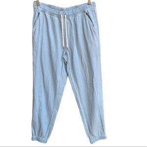 Aerie Light Wash Pull On Denim Joggers Size M